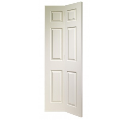 XL Joinery Colonist 6 Panel Bi-Fold Internal White Moulded Door