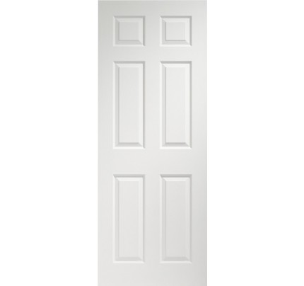 XL Joinery Colonist 6 Panel Internal Pre-Finished White Moulded Door