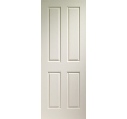 XL Joinery Victorian 4 Panel Internal White Moulded Fire Door