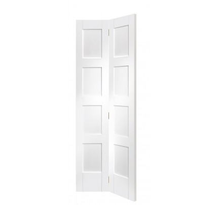 XL Joinery Shaker 4 Panel Bi-Fold Internal White Primed Door