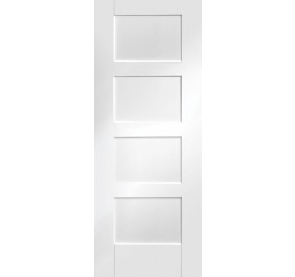 XL Joinery Shaker 4 Panel Internal White Primed Door
