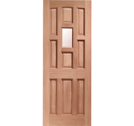 XL Joinery York Single Glazed External Hardwood Door with Obscure Glass